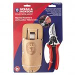 Spear & Jackson Bypass Secateurs & Leather Holster Set