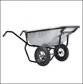 Haemmerlin Ranger 230L Twin Wheeled Galvanised Wheelbarrow 1