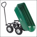 Draper 75L Gardeners Cart with Tipping Feature 1
