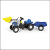 Rolly New Holland TVT 190 Pedal Tractor with Front Loader & Trailer 2