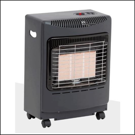 Lifestyle Mini Black Heatforce Gas Cabinet Heater 4.2kW 1