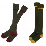 Barbour Contrast Gun Stockings Cranberry or Gold
