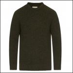 Barbour New Tyne Crew Neck Sweater Olive 1