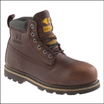 Buckler Brown Leather Waterproof Safety Boot 1