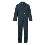 Castle Zip Front Polycotton overalls Spruce Green 1