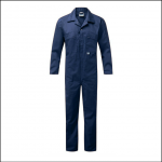 Castle Zip Front Polycotton Coveralls Navy Blue 1