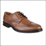 Cotswold Mickleton Tan Lace Up Brogue Shoe 1