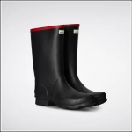 Hunter Argyll Short Knee Wellington Boots Black 1