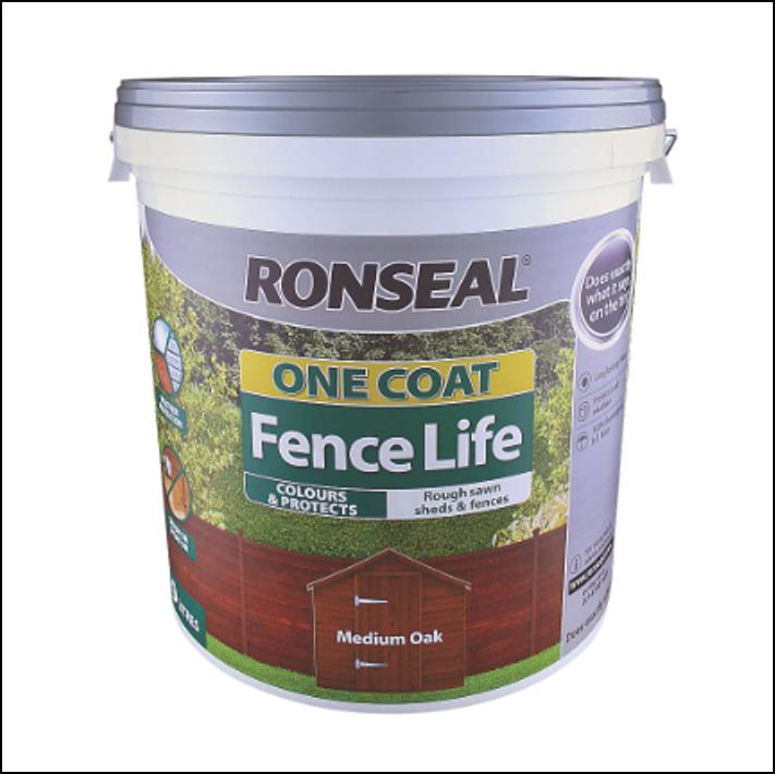 Ronseal Fence Life 5 Litre Medium Oak