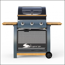 Sahara 3 Burner Oak Gas Barbecue 2021 1
