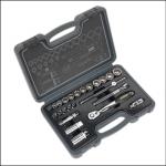Sealey Socket Set 24pc 38Sq Drive Total Drive 1