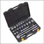 Sealey Socket Set 26pc 3QTR inch Sq Drive 12pt DuoMetric 1