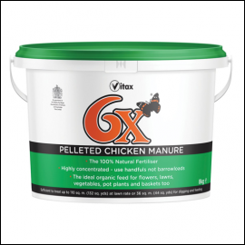 Vitax 6X Pelleted Chicken Manure Fertiliser 8kg 1