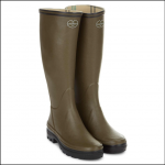 Le Chameau Women's Giverny Jersey Lined Boots Vert Chameau 1