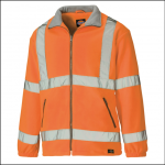Dickies High Visibility Fleece Lined Jacket Orange 1