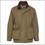 Alan Paine Combrook Mens Sage Waterproof Tweed Shooting Coat