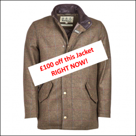 Barbour Wimbrel Olive Tweed Wool Jacket Right Now Offer