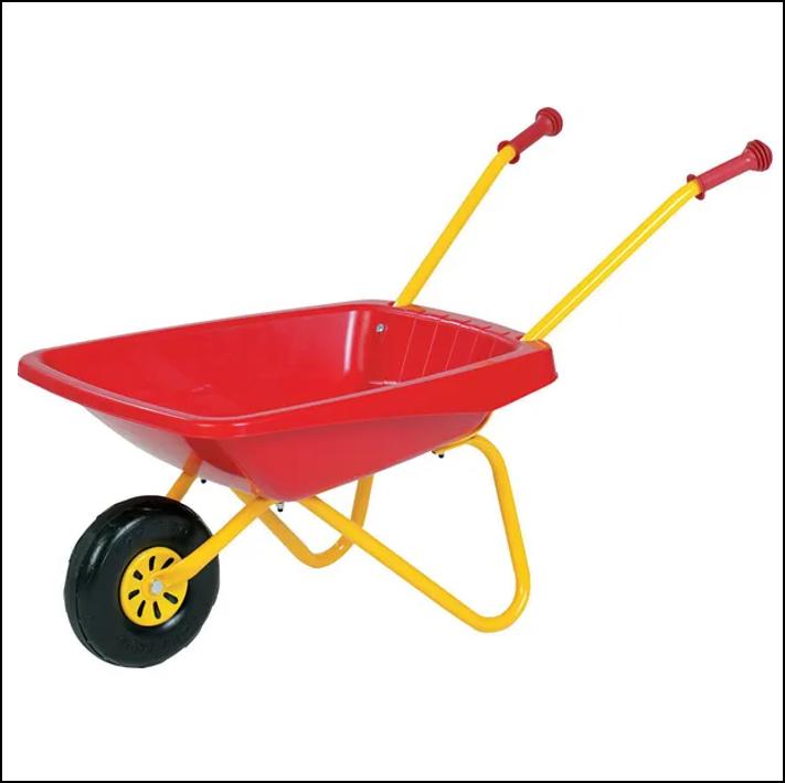 Rolly Toys Kids Metal & Plastic Wheelbarrow Red