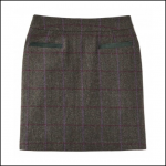 Joules Sheridan Green Check Tweed Field Skirt