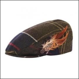 Barbour Ladies Tartan Wool Flat Cap 1