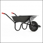 Chillington Camden Classic Black 85L Puncture Free Wheelbarrow 1