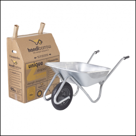 Haemmerlin Handibarrow 90L Galvanised Boxed Wheelbarrow Pnuematic 1