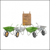 Haemmerlin Handibarrow 90L Galvanised Boxed Wheelbarrow Pnuematic 2