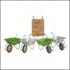 Haemmerlin Handibarrow 90L Lime Green Boxed Wheelbarrow Pnuematic 2