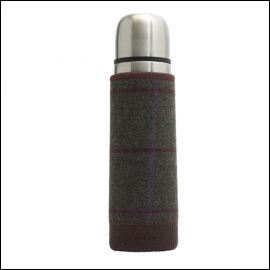 Joules Green Tweed Picnic Flask 1