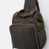 Joules Green Tweed Picnic Rucksack 2