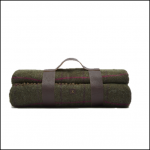 Joules Woven Green Tweed Picnic Blanket 1