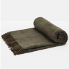 Joules Woven Green Tweed Picnic Blanket 2