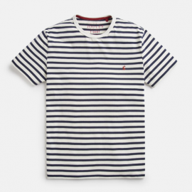 Joules Boathouse Tee Cream-Navy Stripe T-Shirt