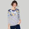 Joules Harbour Cream Floral Stripe Jersey Top 2