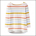 Joules Harbour Cream Multi Stripe Jersey Top 1