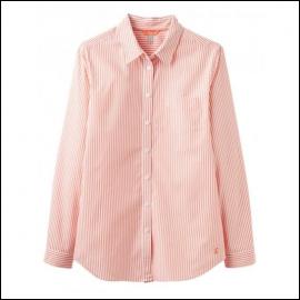 Joules Lucie White Orange Stripe Printed Shirt 1