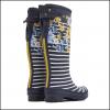 Joules Navy Botanical Tall Wellington Boots 2