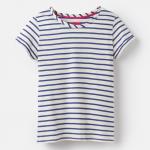 Joules Nessa Cream Blue Stripe Jersey T-Shirt