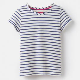 Joules Nessa Cream Blue Stripe Jersey T-Shirt 1