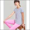 Joules Nessa Cream Blue Stripe Jersey T-Shirt 2