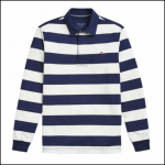 Joules Onside French Navy Stripe Rugby Shirt 1
