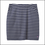 Joules Portia Navy Cream Stripe Jersey Skirt 1