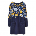 Joules Quinn Tunic with Pockets Navy Bouquet Border 1