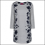 Joules Quinn Tunic with Pockets Navy Floral Border 1