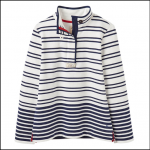 Joules Saunton Cream Navy Stripe Sweatshirt