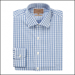 Schoffel Harlyn Navy-White Micro Check Shirt 1