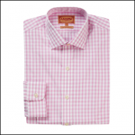 Schoffel Harlyn Pink-White Micro Check Shirt
