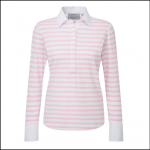 Schoffel Ladies Salcome Shirt Harbour Pink Stripe
