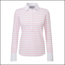 Schoffel Ladies Salcome Shirt Harbour Pink Stripe 1