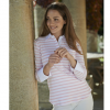 Schoffel Ladies Salcome Shirt Harbour Pink Stripe 2